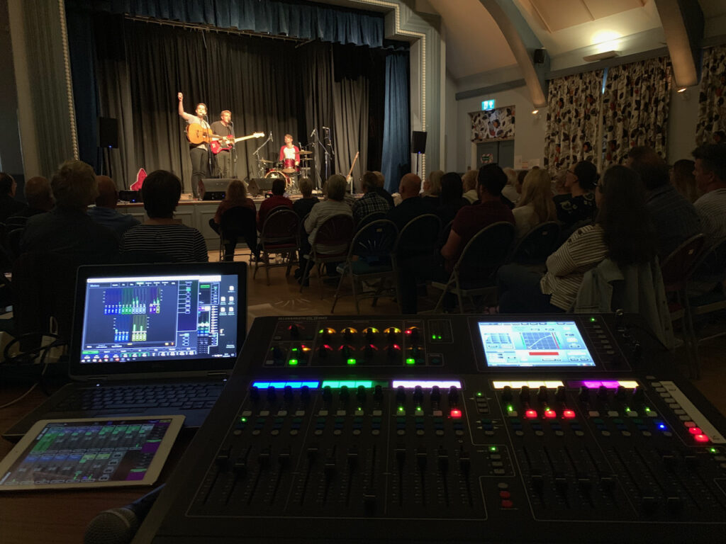 PA Hire for the Luke Jackson Trio at Matthews Hall, Topsham, Devon
