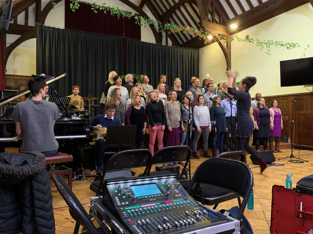 Rehearsing with Soul of the City Choir
